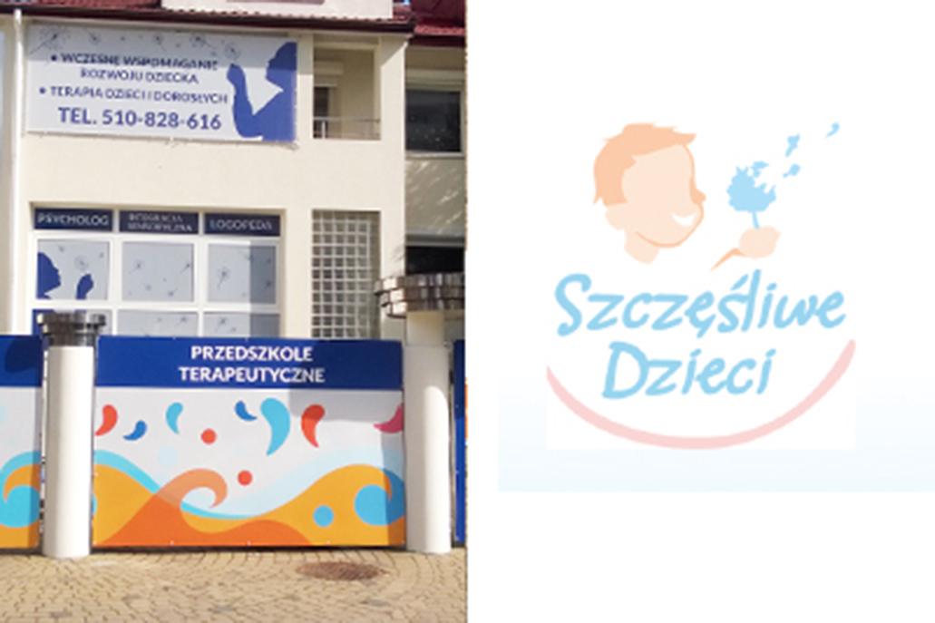 Oznakowanie zewnętrzne dla przedszkola Szczęśliwe Dzieci