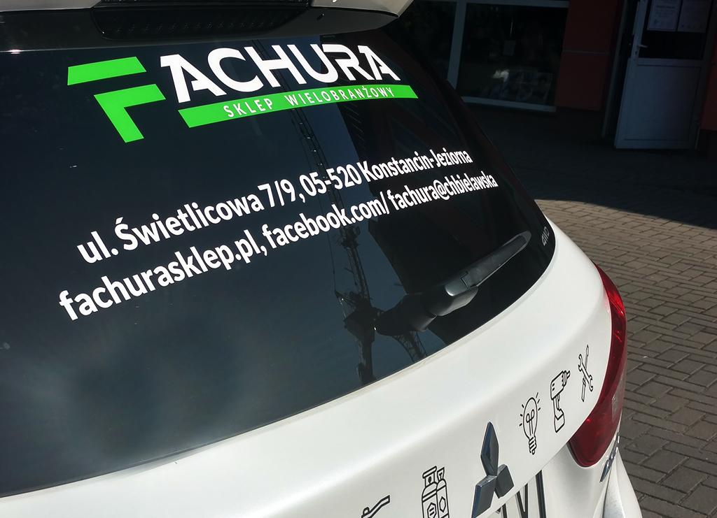 Reklama na samochód Fachura