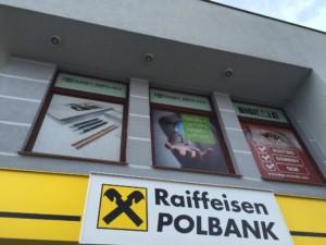 Szyld reklamowy banku