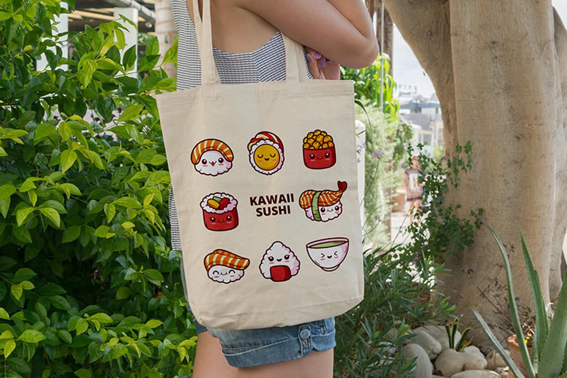 torba materiałowa sushi