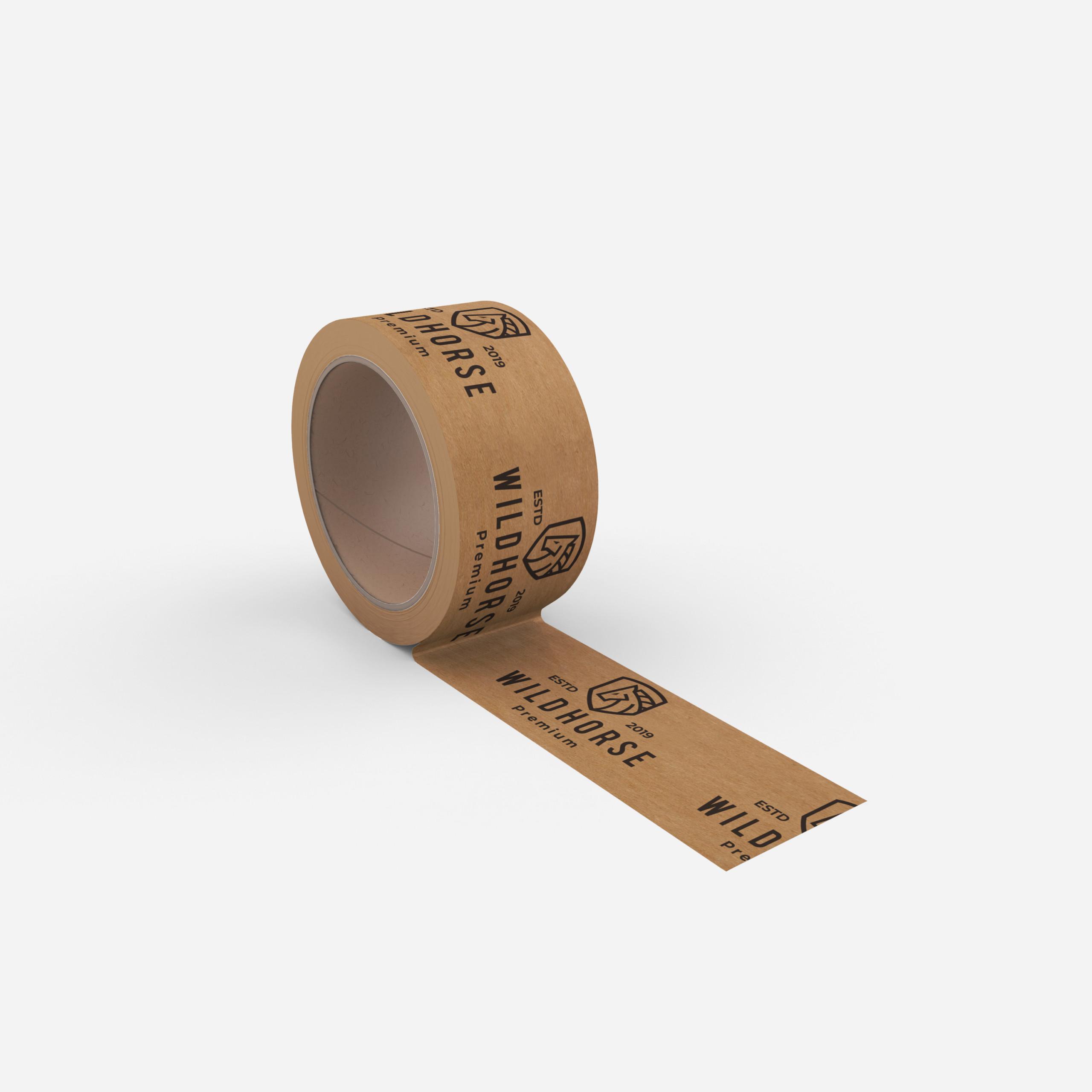 taśma papierowa z logo