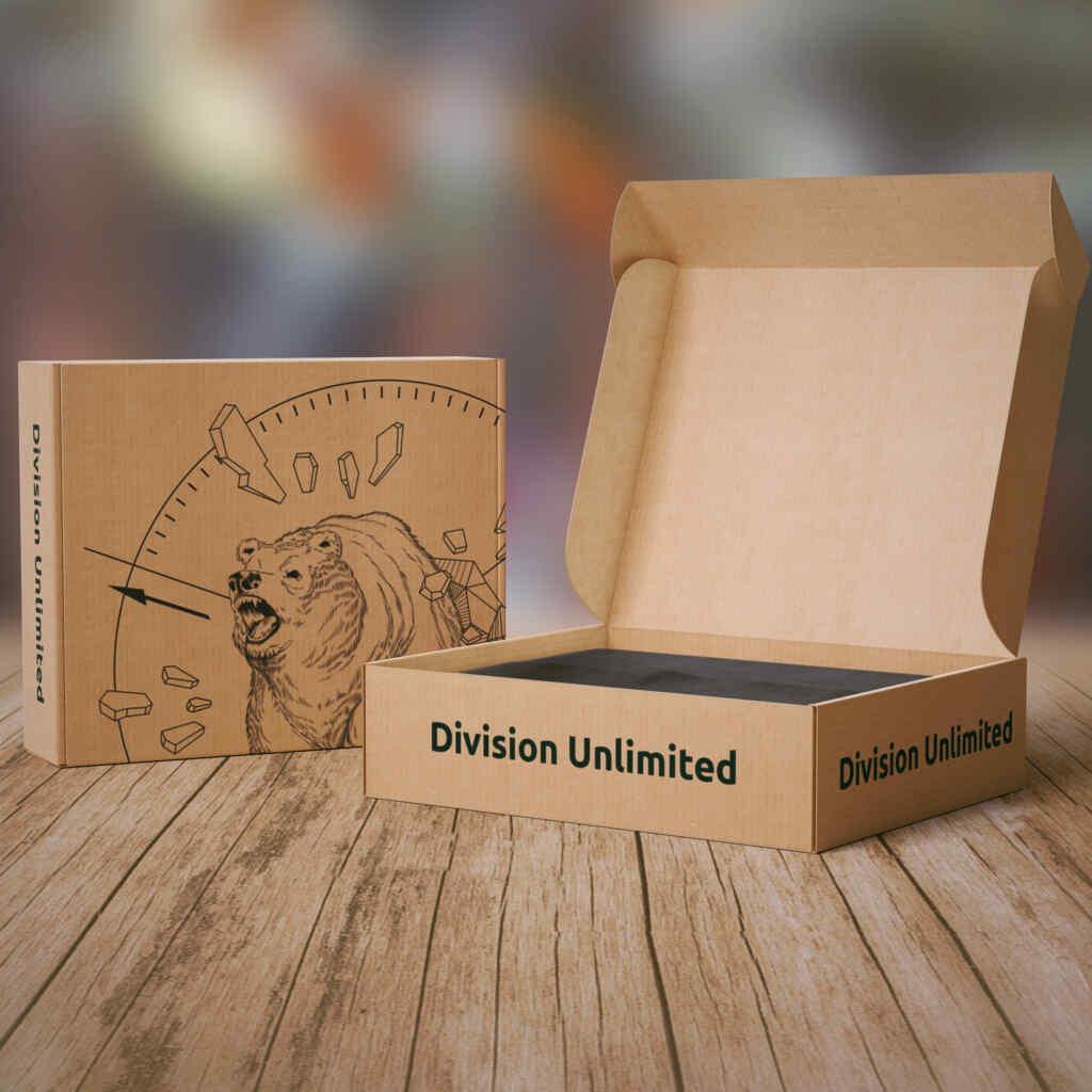 tanie pudełko z logo